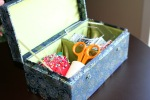 hexagon sewing box